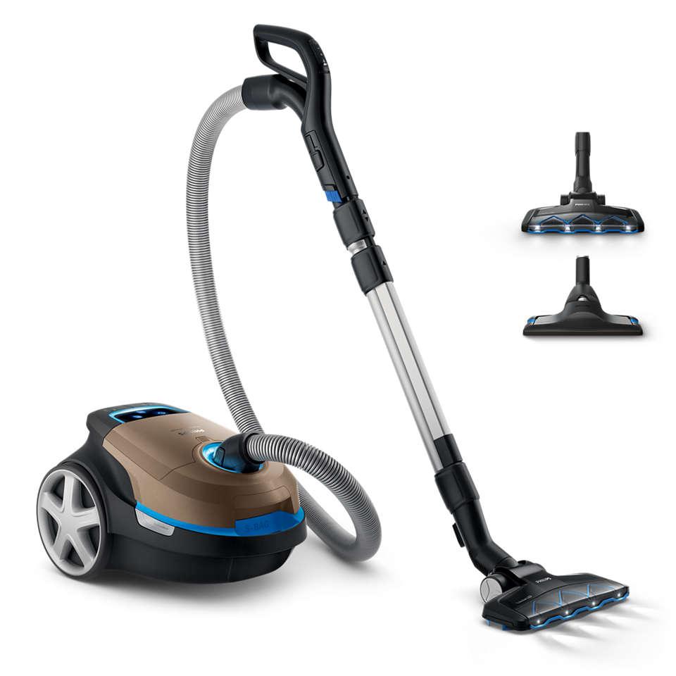 Un nettoyage puissant et profondeur pour tous les types de sols