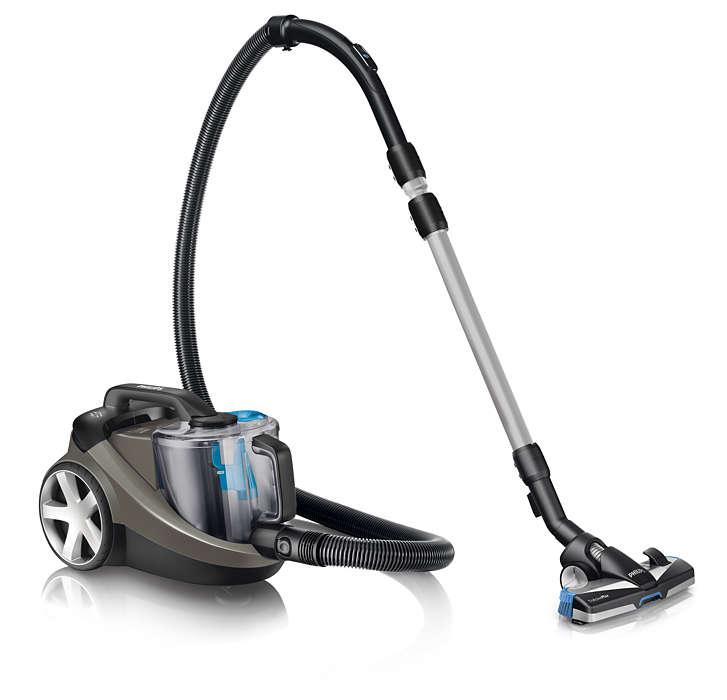 Usisavanje 40% više prašine* osigurava bolje čišćenje