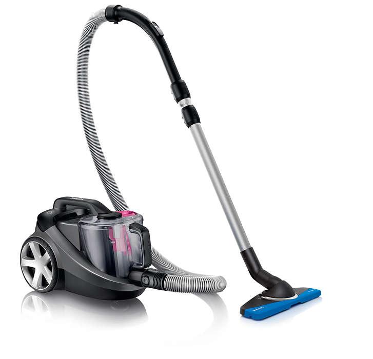 Cu 40% mai mult praf aspirat* pentru o curăţare mai bună