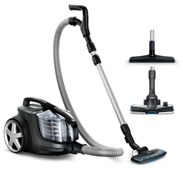 Odstrani več prahu kot sesalniki moči 2400 W*
