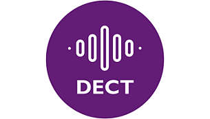 Perfect clear sound thanks to DECT Technology