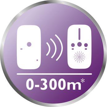 Range up to 300 meters*
