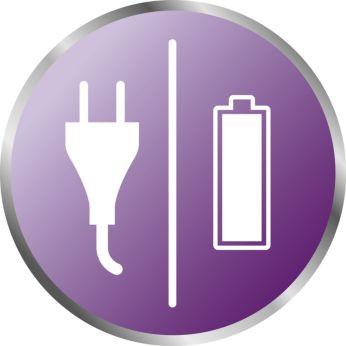 Родительский блок поддерживает работу от электросети и батарей