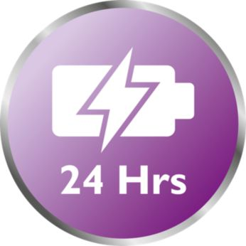 Superior operating time up to 24 hours
