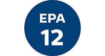 EPA 12 filter with 99.5% filtration of dust