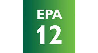 El filtro EPA 12 filtra el 99,5% de las partículas de polvo