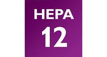HEPA-12-Filter mit 99,5% Staubfilterung