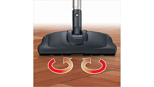 Super Parquet nozzle removes 3 x more sticky dirt