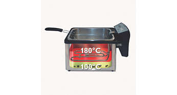 Prevents food particles from burning for cleaner and tastier frying