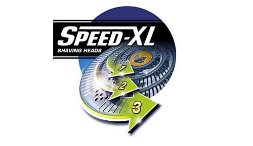 Głowice golące Speed-XL dla dokładnego golenia