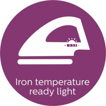 Lampu suhu siap menyetrika
