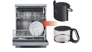 Fácil limpeza: peças próprias para lava-louças
