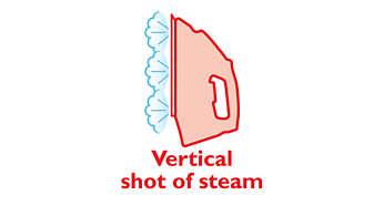 Défroissage vertical pour éliminer les faux plis sur les vêtements suspendus
