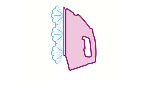 Verticale stoom voor het verwijderen van kreuken uit hangende kledingstukken