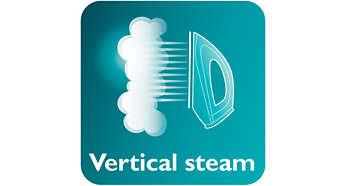 Vapor vertical para passar roupas penduradas
