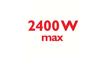 2400 Watt enables constant high steam output
