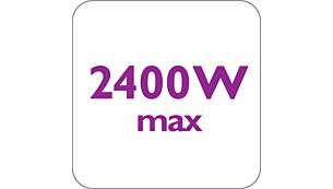 2400 W para uma saída de vapor elevada e constante