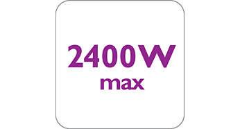 2400 Waţi asigură producerea constantă şi puternică a aburului