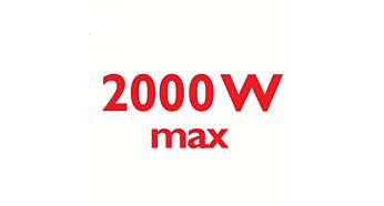2000 wattov umožňuje silný kontinuálny výstup pary