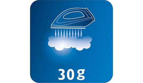 Konstante Dampfleistung von bis zu 30g/Min. für effektiveres Glätten