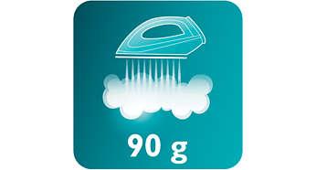 Dampfstoß bis zu 90g zum Glätten hartnäckiger Falten