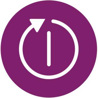 Электронная функция отключения выключает оставленный без присмотра утюг