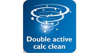 Double Active kalkinpoistojärjestelmä ehkäisee kalkin muodostumista