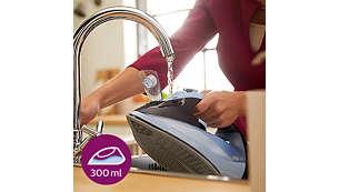 Selteneres Nachfüllen aufgrund des extragroßen Wassertanks (300ml)