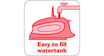 The iron is suitable for use with tap water