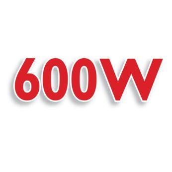 Potente motor de 600 watts