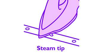 Паровой носик Steam Tip позволяет прогладить труднодоступные детали одежды