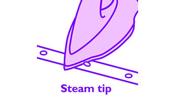 Steam tip allows you to have steam in hard-to-reach areas
