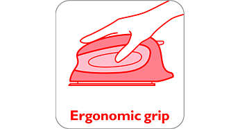 Soft grip for lasting ironing comfort