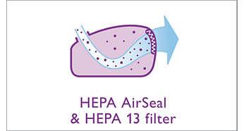 Joint hermétique HEPA AirSeal et filtre HEPA13