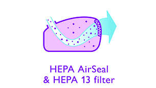 HEPA AirSeal in filter HEPA 13