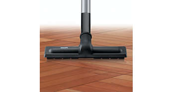 Parquet nozzle with soft brush hairs for scratch-protection