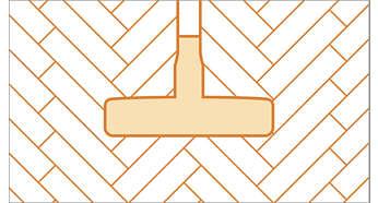 Parketmondstuk met zachte borstelharen voor bescherming tegen krassen