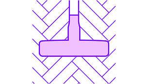 Nastavek za parket s krtačo z mehkimi ščetinami za zaščito pred praskami