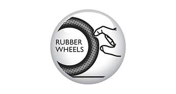 Soft rubber wheels