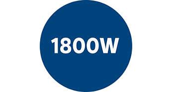 1800-Watt motor generating max. 350Watts suction power
