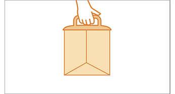 Cassette porte-sac Clean Comfort exclusive, évite le contact avec la poussière