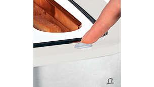 Mit der Stopp-Taste kann der Toastvorgang jederzeit unterbrochen werden