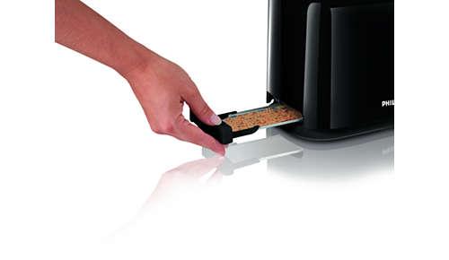 Uitneembare kruimellade waardoor u het apparaat eenvoudig kunt schoonmaken