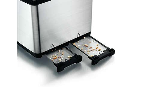 Löstagbar smulbricka för enkel rengöring