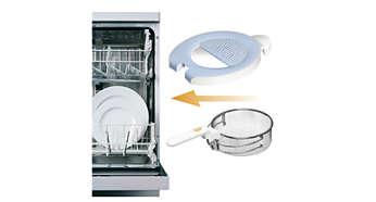 Le panier et le couvercle amovibles passent au lave-vaisselle.