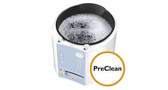 PreClean function to soak the inner bowl in hot water