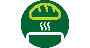 Opzethouder waarmee u broodjes en croissants kunt opwarmen