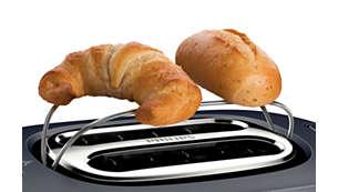 Grelha de aquecimento para aquecer pães doces e croissants