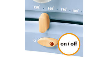 On/off switch for additional safety