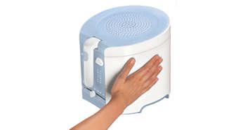 De buitenkant van de friteuse blijft koel en kan veilig worden aangeraakt